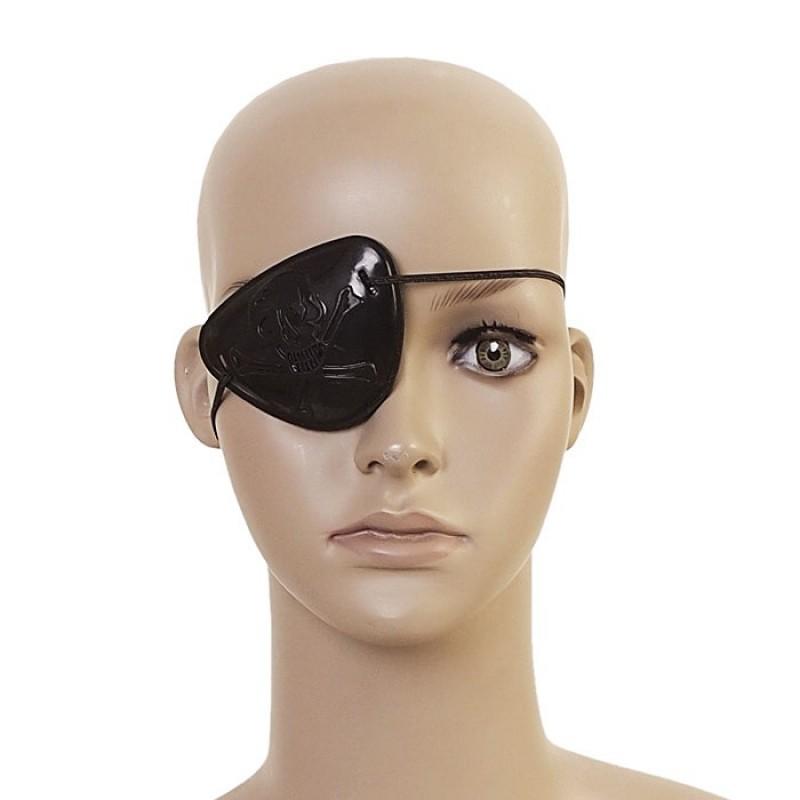 ドクロ柄眼帯