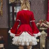 姫袖とたっぷりフリルのバイカラードレス