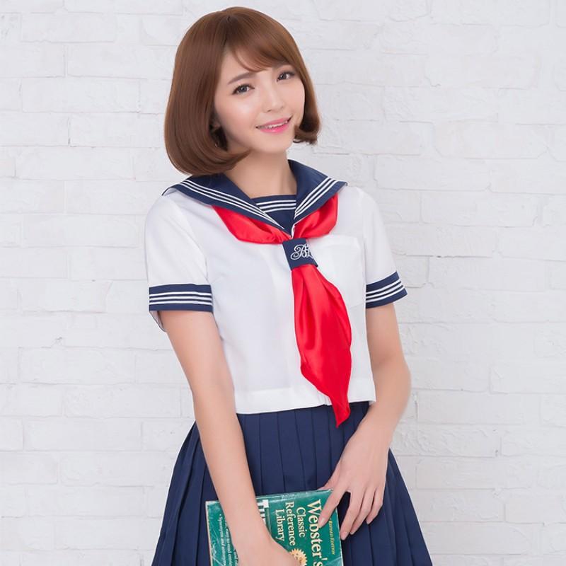 紺×白×赤スカ�...